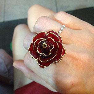 แหวน ดอกกุหลาย