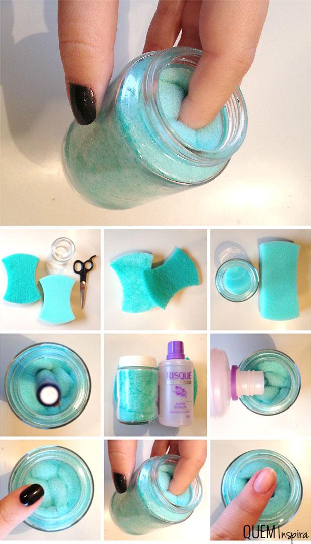 DIY ทำโหลใส่น้ำยาล้างเล็บ