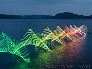 Motion Exposure เทคนิคการวาดภาพด้วยแสง