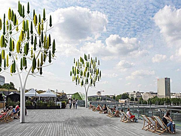 ต้นไม้กังหันลมผลิตกระแสไฟฟ้า ปารีส