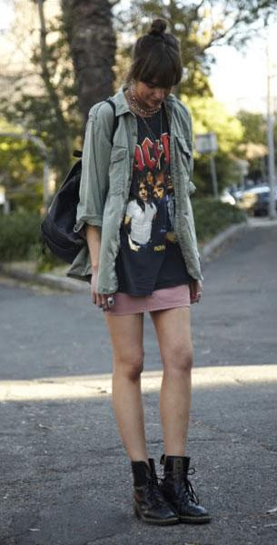รองเท้าด๊อกเตอร์มาร์ติน เสื้อยืด Salvos เสื้อเชิ้ตทหาร Vintage กระโปรง American Apparel กระเป๋า Dr. Martens