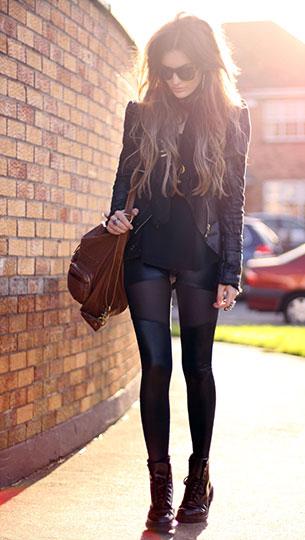รองเท้า Dr. Martens แจ๊คเก็ต Storets เสื้อ Romwe กระเป๋า Romwe กางเกงเลกกิ้ง Black Milk ผ้าพันคอ Golly Gosh Boutique