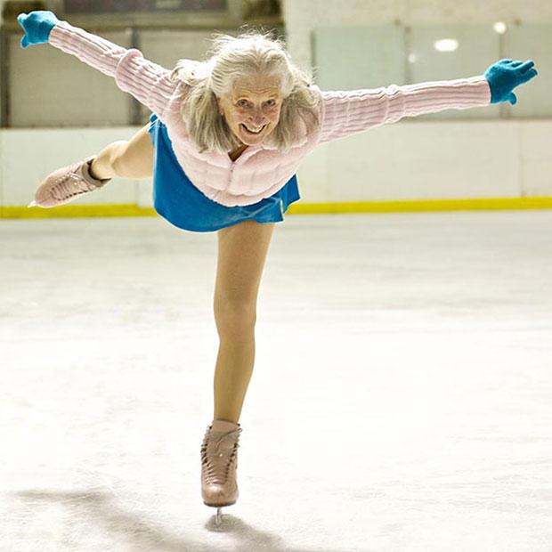 อีวอนน์ ดาวเลน Yvonne Dowlen นักสเก็ตน้ำแข็ง ผู้สูงอายุ