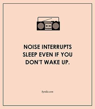 เสียงตอนกลางคืนมีผลต่อการนอนหลับแม้ว่าจะไม่รู้สึกตัว