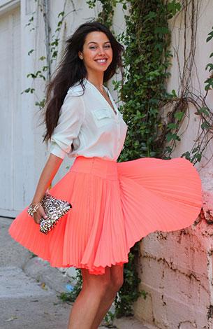 เสื้อเชิ้ตกับกระโปรง เสื้อเชิ้ตสีมินท์ Equipment กระโปรงสีพีช Nanette Lepore กระเป๋า Style by Marina