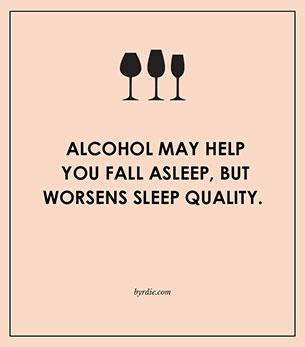 แอลกอฮอล์ช่วยให้หลับ แต่จะมีผลร้ายขณะหลับ