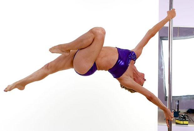 Greta Pontarelly เกรต้า ปอนตาเรลลี่ นักเต้นระบำรูดเสา ผู้สูงอายุ