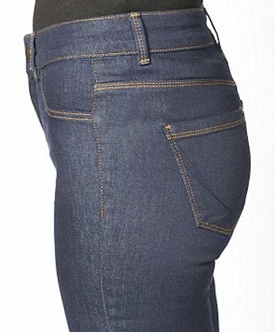 กางเกงยีนส์ยกก้นทำให้บั้นท้ายใหญ่ขึ้น ภาพด้านข้างก่อนใส่