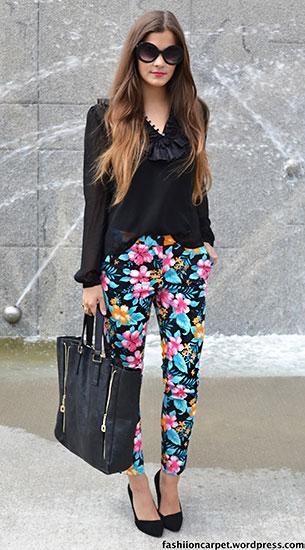 กางเกงลายดอกไม้ Ebay, เสื้อสีดำ H&M, รองเท้า Bianco, กระเป๋า Hallhuber, แว่นตากันแดด Ebay, แหวน Primark