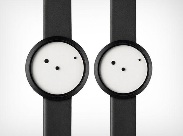 นาฬิกาสไตล์มินิมอล สีขาวดำ