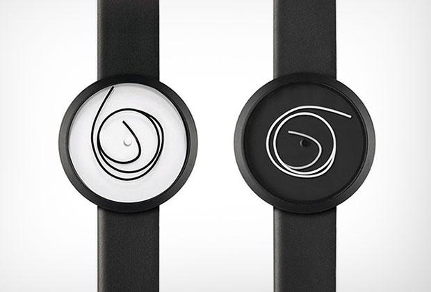 นาฬิกาสไตล์มินิมอล สีดำ สีขาว