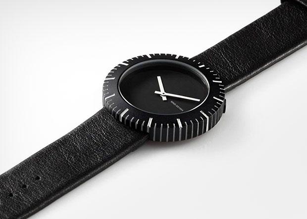 นาฬิกาสไตล์มินิมอล สีดำ