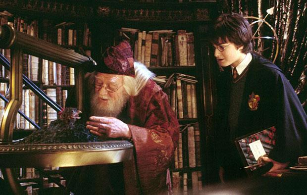 หนังสืออยู่ในห้องดัมเบิลดอร์เรื่อง Harry Potter พอตเตอร์เป็นเพียงสมุดโทรศัพท์หน้าเหลือง