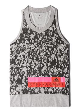 อาดิดาส สเตล่าสปอร์ต, Cotton Tank เสื้อกล้ามสีดำ ลายเทา
