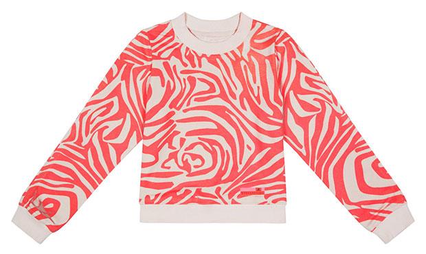 อาดิดาส สเตล่าสปอร์ต, Sweater AOP สเว็ตเตอร์สีชมพู ลายขาว