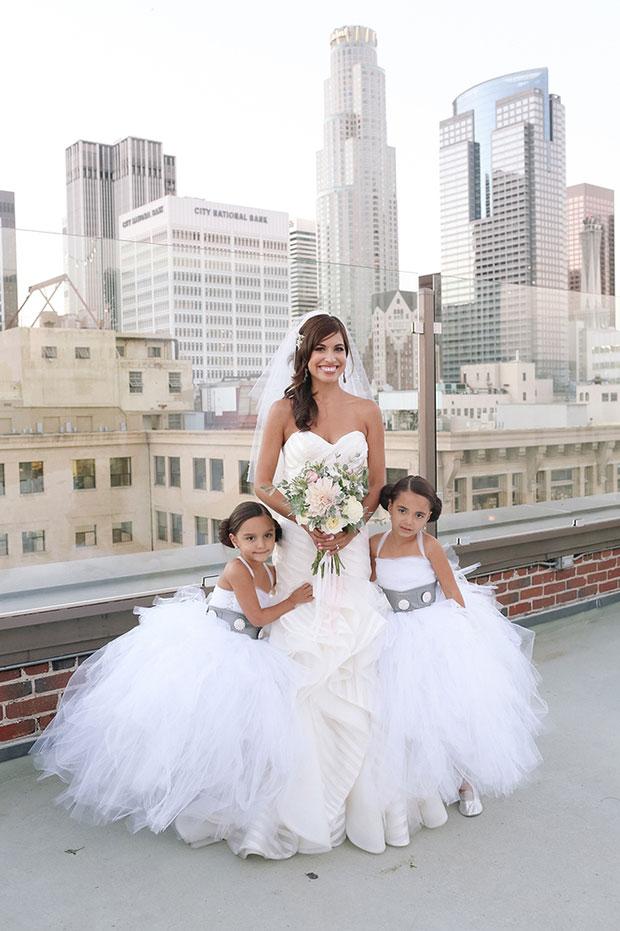 เด็กโปรยดอกไม้ในงานแต่งงานใส่ชุดธีมสตาร์วอร์ส