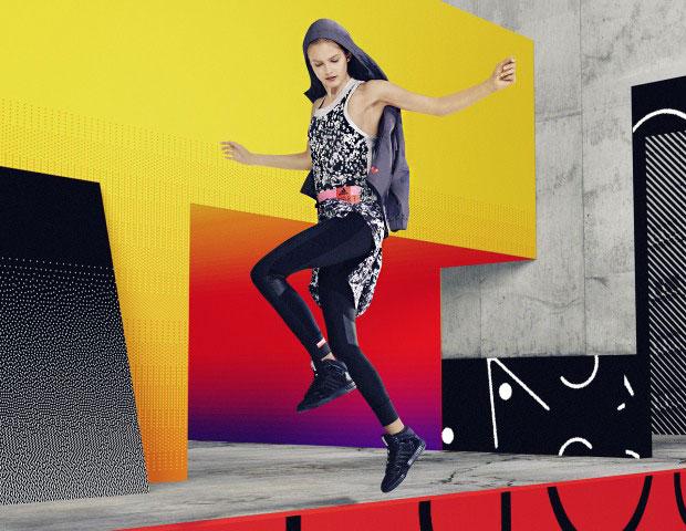 Adidas StellaSport ชุดสีดำ