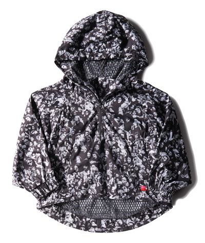 Adidas StellaSport, Jacket AOP แจ็คเก็ตสีดำ ลายเทา