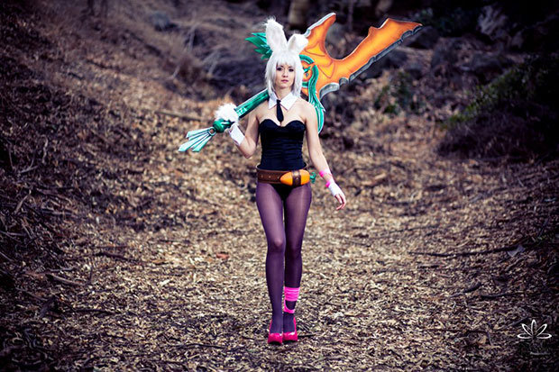 Cosplay Battle Bunny Riven, League of Legends