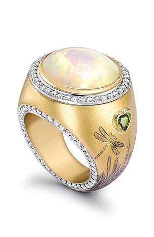 Opening Opal Dawn Ring