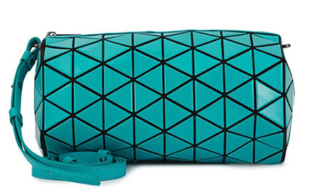 กระเป๋าสะพาย สีฟ้าอมเขียน Bao Bao Issey Miyake