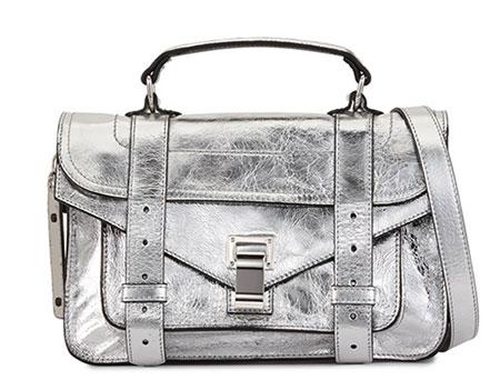 กระเป๋าสีเงิน Proenza Schouler