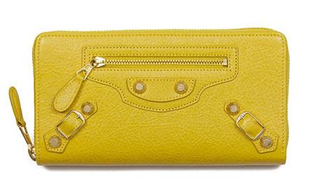 กระเป๋าเงินสีเหลือง Balenciaga