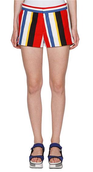 กางเกงขาสั้นลายตั้งหลายสี Marni