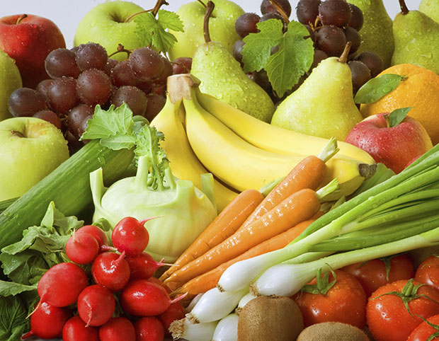ผักและผลไม้เป็นแหล่งน้ำที่ดี
