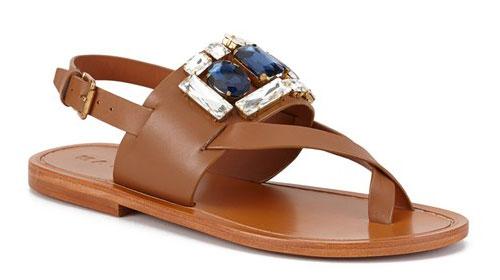 รองเท้าสีน้ำตาล Marni