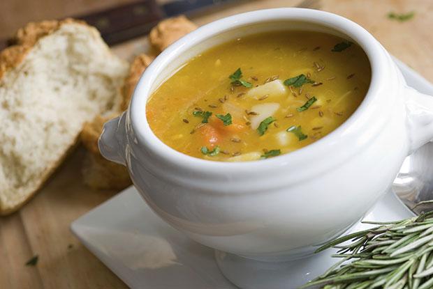 อาหารกลางวันของนางแบบ, ซุป
