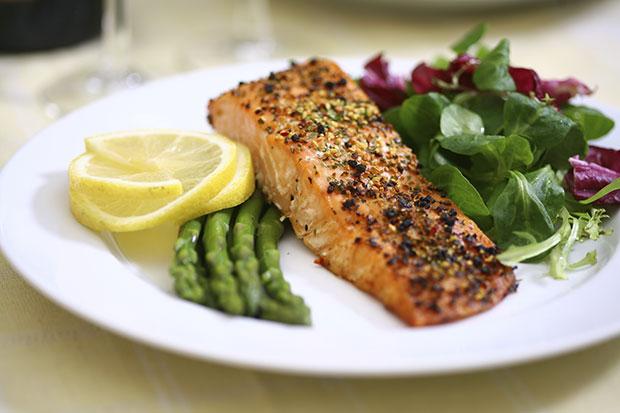 อาหารกลางวันของนางแบบ, โปรตีนไขมันต่ำกับผัก