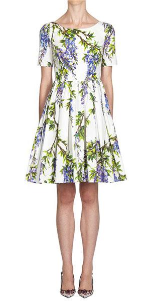 เดรสสั้นลายดอกไม้ Dolce & Gabbana