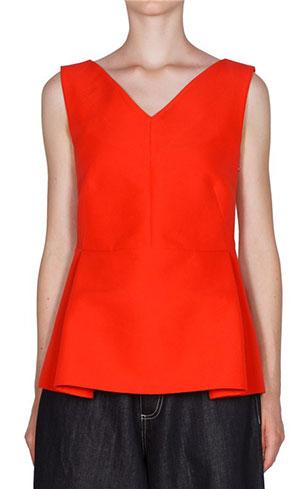 เสื้อแฟชั่นแขนกุด สีส้ม Marni
