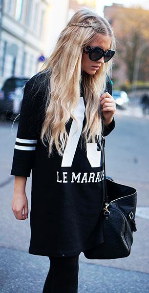 แว่นตากันแดด กรอบดำ Prada, แจ็คเก็ต Won Hundred, เสื้อตัวเลข Zara, รองเท้า Zara, กระเป๋า Bershka