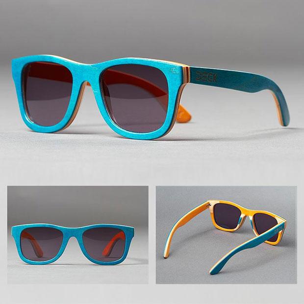 แว่นตากันแดด สีฟ้า ด้านในสีเหลือง