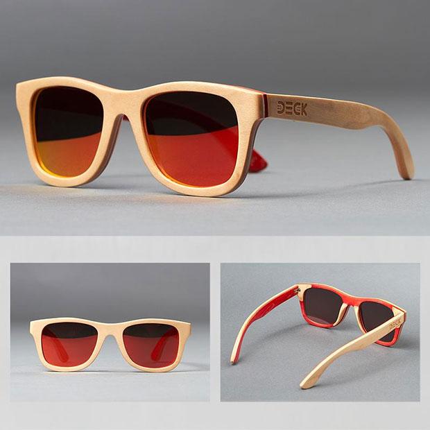 แว่นตากันแดด สีเบจ ด้านในสีพีช