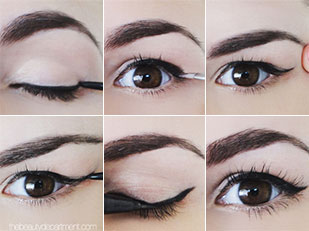 Cat Eye Makeup Tutorial  for Litter Lid Space