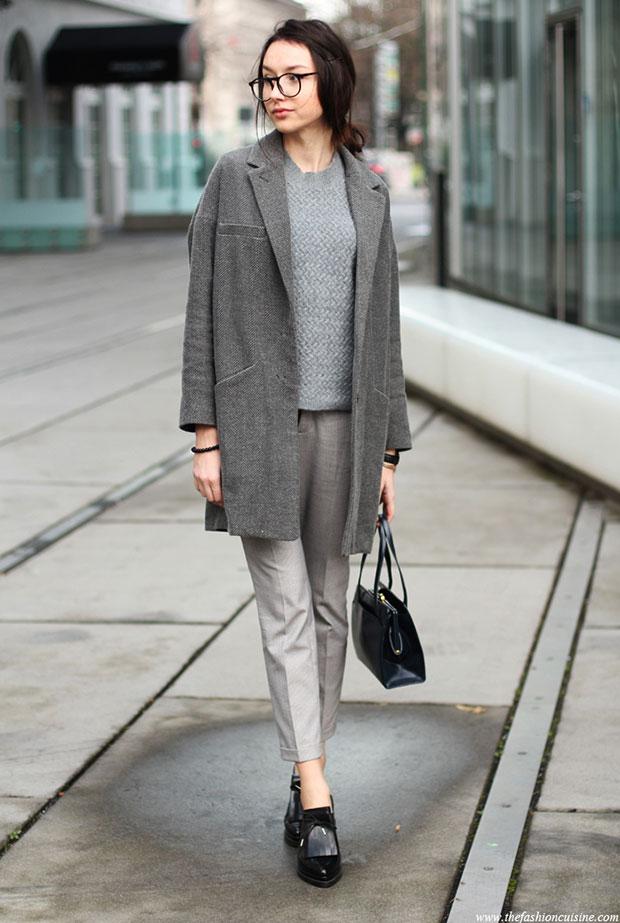 Zara Gray Sweater Coat 44