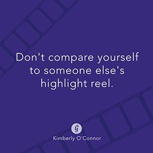 คำคม อย่าเปรียบเทียบตัวเองกับความสมบูรณ์แบบของคนอื่น