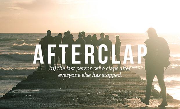 คำศัพท์เกิดใหม่ Afterclap