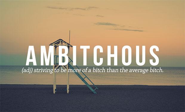 คำศัพท์เกิดใหม่ Ambitchous