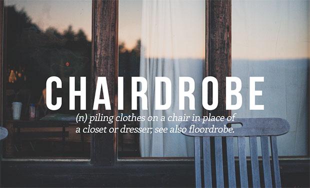 คำศัพท์เกิดใหม่ Chairdrobe