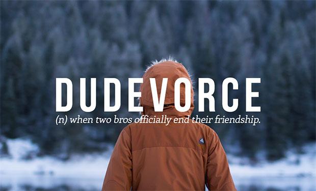 คำศัพท์เกิดใหม่ Dudevorce