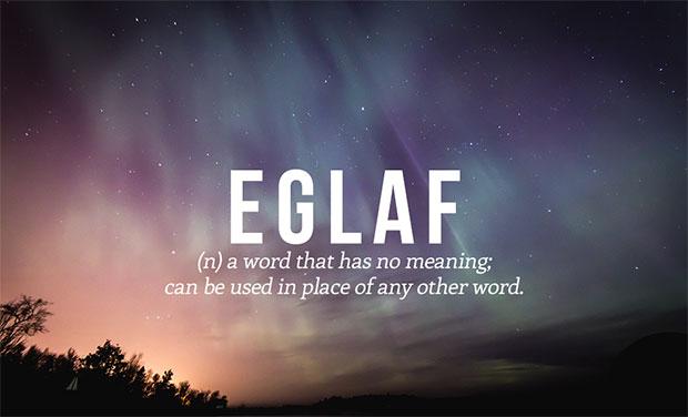 คำศัพท์เกิดใหม่ Eglaf