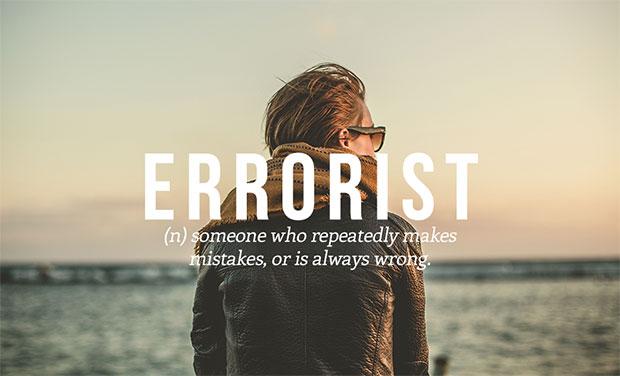 คำศัพท์เกิดใหม่ Errorist