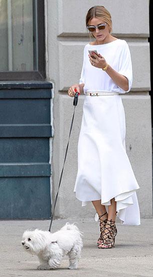 ชุดสีขาว, กระโปรงขาว Olivia Palermo