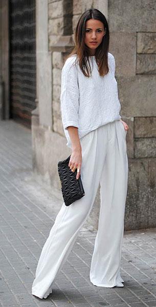 ชุดสีขาว Zara, กางเกงสีขาว Zara, รองเท้า Zara, กระเป๋าคลัทช์ Miu Miu, แว่านตากันแดด & Other Stories