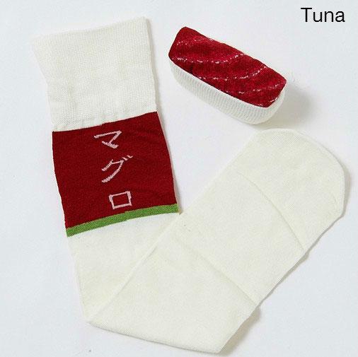 ถุงเท้าซูชิปลาทูน่า