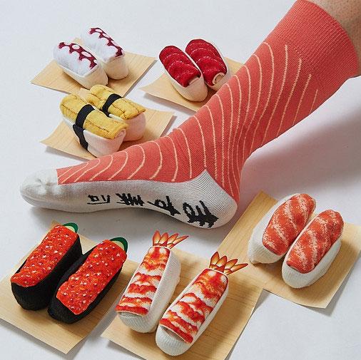 ถุงเท้าพับเก็บเป็นซูชิ